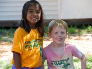 two young kids in congressional camp shirts