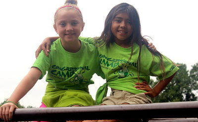 campers posing for a picture